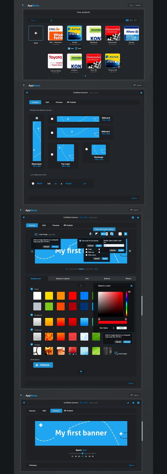 Interface aplikacji Ad buzz